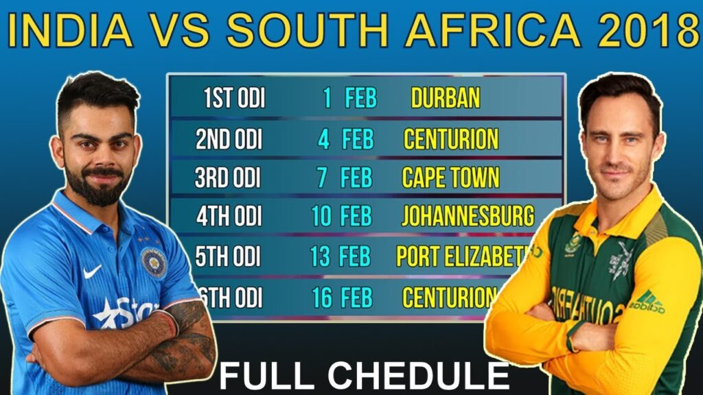 Pakistan Vs South Africa Series Schedule : Schedule For ...