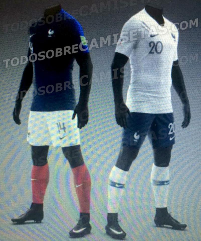 free shipping a0675 57c67 France Team Kit/Jersey For FIFA World Cup 2018