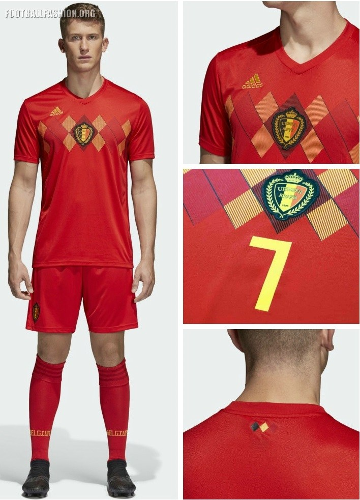 Away home kits of Belgium are designed in Red color having stripes of  Yellow color b9895b8e8