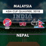 Malaysia Vs Nepal 8th Match Live Streaming – 1 September 2018