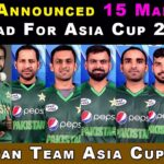 Breaking News: PCB announces Pakistan Squad for Asia Cup 2018