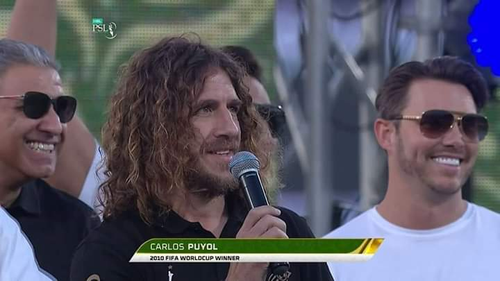 File Pic: Puyol at National Stadium Karachi