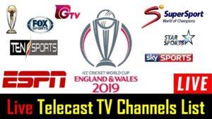India vs West Indies 2019 T20 & ODI Live Telecast TV